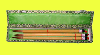 Chinese brush set of 3