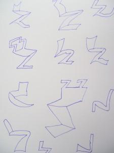 salie zigzag stoelen