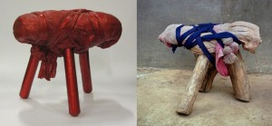 "Comparison - Michael Wolf ""Bastard Chairs / Sitting in China (2002)"" and Wieki Somers ""Chinese stools - made in China copied by Dutch"""