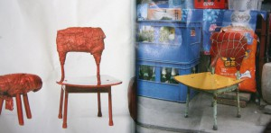 """Chinese stools - made in China copied by Dutch"" from book 'Out of the ordinary' Studio Wieki Somers"