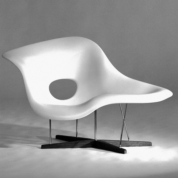 The 'La Chaise' chair by Charles and Ray Eames