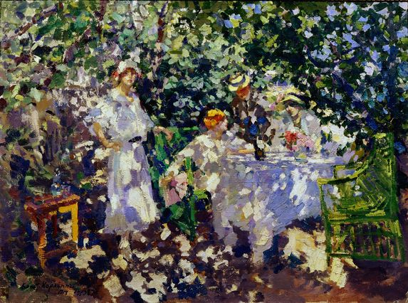 a painting by Korovin