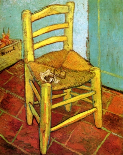 a van gogh`s chair