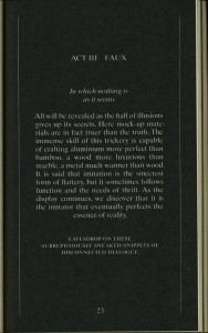 It seems like the pages are black and the letters are white, but is we take a look at the side of the book (which is also visible within the image), we can see that the pages are actually originally white.