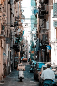 Streets of Naples (Napoli). Naples, Campania, Italy, South Europe.