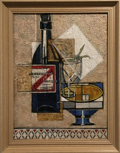 still life with bottle of Hollandia water 1946-1947