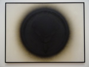"""Venus von Willendorf"", 1963, by Otto Piene, oil and soot on canvas"