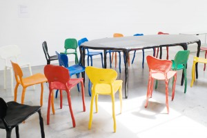 Clay furniture chairs and table