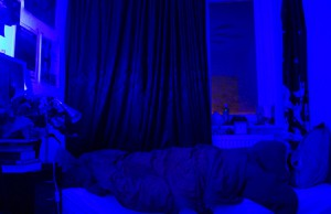 dark blue light