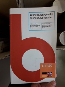 boek bauhaus typographie