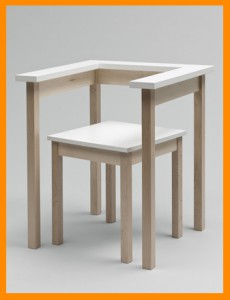 tabel chair orange