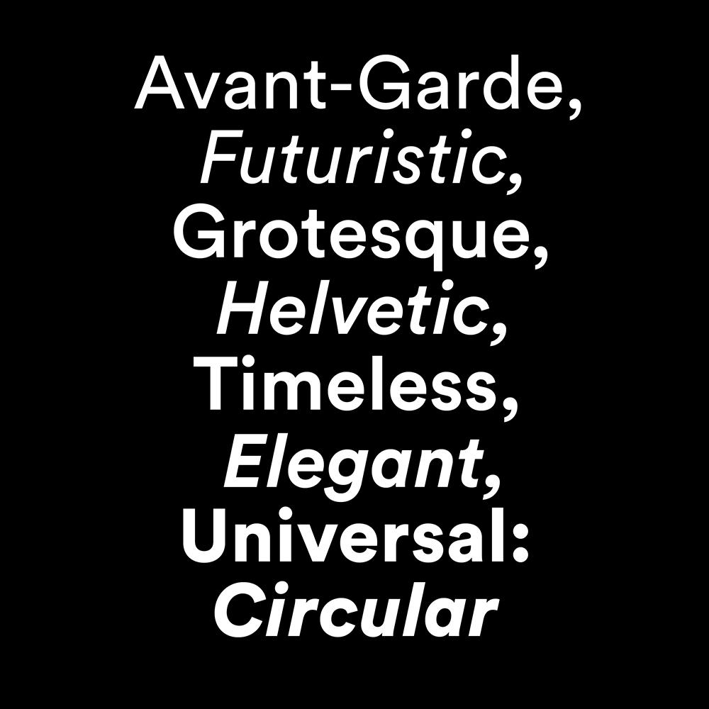 Circular Font sample