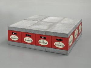 Joep van Lieshout, 12 stones - 12 crates, 1987