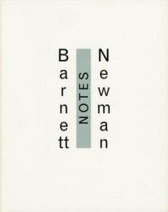 barnett newmann  notes