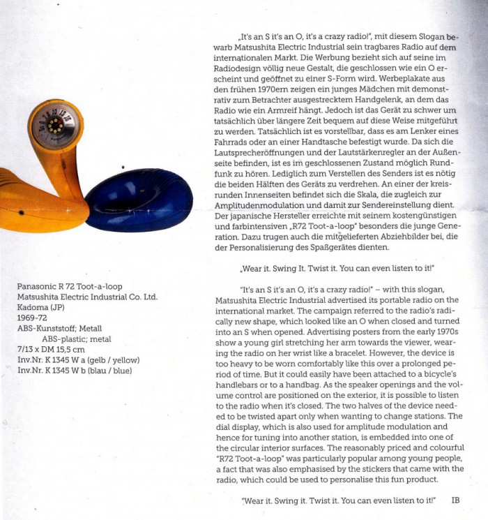 Panasonic Toot-A-Loop R-72 | Designblog