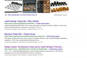chess set Josef hartwig